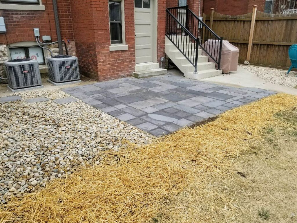 After paver patio picture